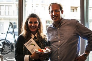 Jane McFaden (left) Executive Director Shop West 4th BIA & Richard Wolak (right) Founder Vancouver Foodster/Tasting Plates)