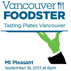 Tasting Plates Mount Pleasant September 18