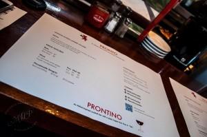 pronto 6 tasting menu